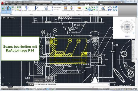 Scan-/ Rasterbearbeitung in Hybridtechnik als AutoCAD - Anwendung