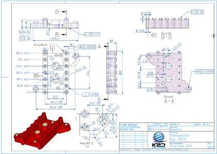 3D CAD Modelle in 2D Zeichnungen sicher ableiten mit KeyCreator