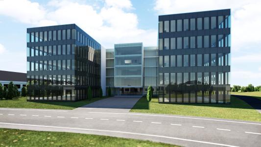 Mit dem fünfstöckigen Neubau setzt SSI Schäfer ein Zeichen für die Zukunft