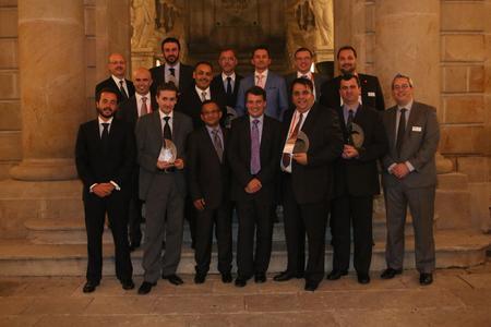 Die sechs Gewinnerunternehmen feierten ihren Erfolg auf der Imaging Channel Conference von PFU. (Bildquelle: PFU)