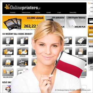 New online shop onlineprinters.pl offers free delivery to Poland