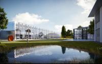 Der Neubau der Brunner Group am Standort Rheinau wurde vom renommierten Architekturbüro Henn entworfen / Bild: Brunner Group