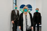 Rundgang Anlässlich des Firmenzusammenschlusses mit Angelika Schöttler(Bezirksbürgermeisterin Tempelhof-Schöneberg) in Begleitung der Geschäftsführung Timo Neustock und Katrin Grallert.