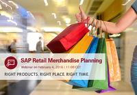 Westernacher Click 'n Go Webinar on February 4, 2016: SAP Retail Merchandise Planning