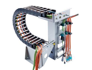 Des chaînes porte-câbles complètement confectionnées de TSUBAKI KABELSCHLEPP conviennent pour les différents secteurs et applications