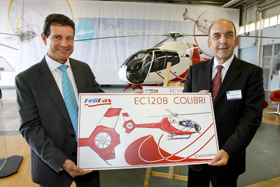 Eurocopter delivers the last of 36 EC120s ordered by Hélidax