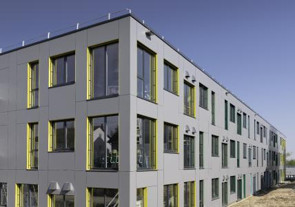 Abwechslungsreiches Fassadenbild