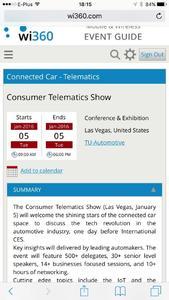 wi360 Consumer Telematics Event Details
