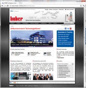 Huber mit neuer Website