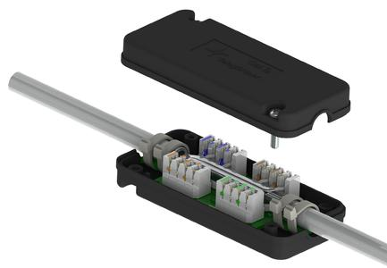 Neues Verbindungsmodul VM 8-8 Cat.7A der Telegärtner Karl Gärtner GmbH für Leitungsgeschwindigkeiten bis 1.000 MHz.