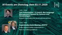 itl-Rückblick zur tekom-Jahrestagung 2020