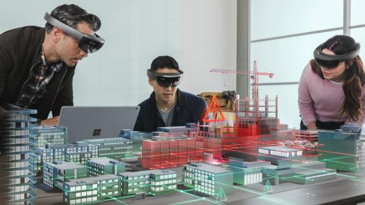 Was ist Realität, was Fiktion? Rund um die Technologien Virtual und Augmented Reality geht es bei der Vortragsreihe Industriedialog Industrie 4.0, die jetzt ins Sommersemester startet. Den Auftakt macht am kommenden Montag, 25. März 2019, Michael Zawrel von Microsoft Germany / Fotonachweis: © Microsoft   Michael Zawrel