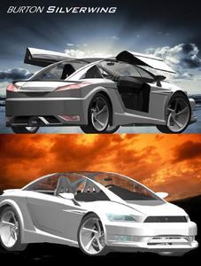 Der erste Preis ging an den virtuellen Sportwagen BURTON Silverwing