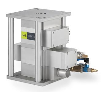 The Protector metal separator features highest detection accuracy and thus guarantees the reliable operation of injection-moulding machines, even when processing plastic material with a high level of regranulate. (Photo: Sesotec GmbH)