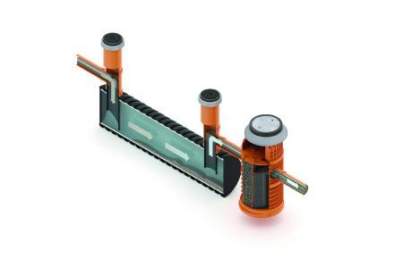 An eine Reinigungsanlage RAUSIKKO HydroMaxx können bis zu 2.000 Quadratmeter stark belastete Verkehrsfläche angeschlossen werden. Foto: REHAU
