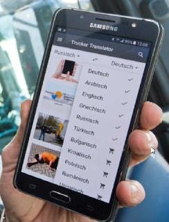 Diese App für Brummifahrer und Logistikfirmen reißt mit Bildern Sprachbarrieren ein