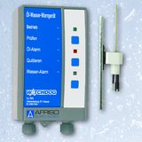 The AFRISO WATCHDOG oil/water alarm ÖWU monitors rooms for unwanted oil or water accumulations