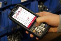 Die Android-App DISPONENT Scan arbeitet plattformunabhängig und bietet eine grafische Benutzeroberfläche. Quelle: Weber Data Service