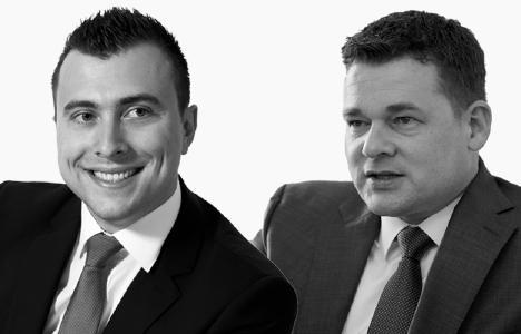 Markus Gauder (links) und Kai Fürderer (rechts) - Geschäftsführer der FinGOAL! GmbH