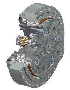 Spielfreies Präzisionsgetriebe F4CFS-UA 115 mit hoher Kippsteifigkeit und für hohe Belastungen, Bild: Sumitomo (SHI) Cyclo Drive Germany GmbH