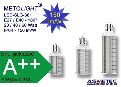METOLIGHT LED Straßenlampe SLG 381, 180°-Lichtabstrahlung