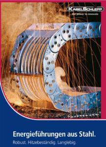 Daten für die technische Auslegung einer Energieführung, Konstruktionsrichtlinien und bebilderte Applikationsbeispiele: Der neue KABELSCHLEPP-Katalog für Ener-gieführungsketten aus Stahl ist ein Produktverzeichnis mit Mehrwert