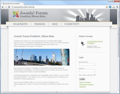 Joomla! Forum Frankfurt / Rhein-Main: am 20. April nächstes Joomla-Treffen für Joomla-Interessierte und Webdesigner im Rhein-Main-Gebiet