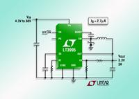 60V, 3A (IOUT), 2MHz Step-Down DC/DC Converter Needs Only 2.7µA of Quiescent Current