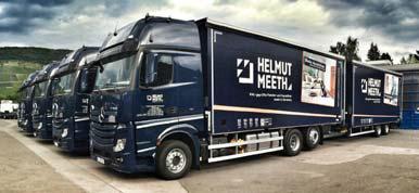Der neue Fuhrpark der Helmut Meeth GmbH & Co. KG bietet maßgeschneiderte Fahrzeug- und Aufbautechnik