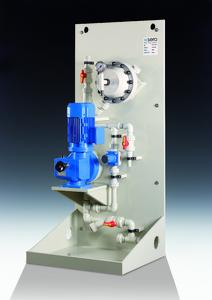 sera CVD1-1500.1 with piping on the suction side and pulsation damper