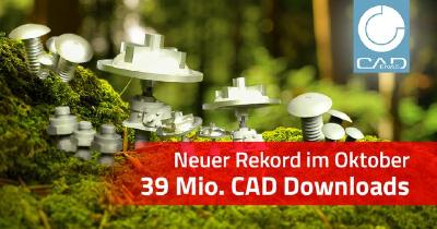 Erstmals über 39 Mio. CAD Modelle Downloads im Monat