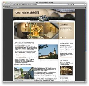 Neue Internetseite der Abtei Michaelsberg in Siegburg