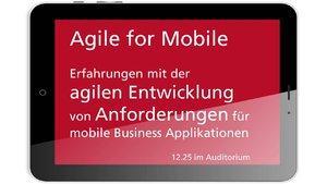 "microTOOL präsentiert ""Agile for Mobile"" auf der REConf 2015"