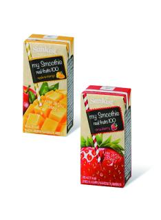 New in carton packs from SIG Combibloc: 'Sunkist' smoothies with bits of fruit