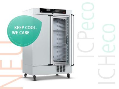 Memmert Klimaschrank ICHeco/Kompressor-Kühlbrutschrank ICPeco jetzt mit natürlichem Kältemittel CO2 (R744)