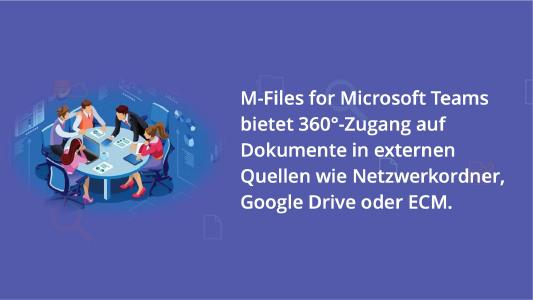 M-Files integriert intelligentes Informations-management in Microsoft Teams