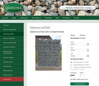 Gabionen online kaufen - Gabiona