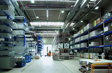 Neues Logistikzentrum in Althengstett, Innenansicht