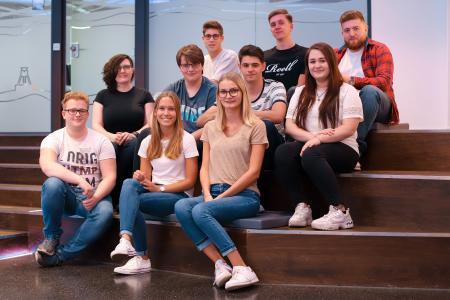 Zehn neue Auszubildende haben am 1. August 2019 bei G DATA ihre Ausbildung begonnen.