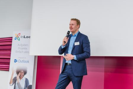 IIT 2018 München: InLoox Mitgründer und Geschäftsführer Dr. Andreas Tremel begrüßt die Teilnehmer.