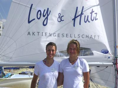 Loy & Hutz sponsert erfolgreiches Seglerinnen-Team Lea Spitzmann und Miriam Hoffmann.