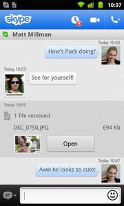 Skype 2.6 für Android: Verschicke rechtzeitig zur Weihnachtszeit Bilder und Videos
