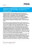 [PDF] Pressemitteilung: Meilenstein für Elektromobilität: Universelles Bezahlsystem cVEND box+ von FEIG ELECTRONIC in Ladesäulen von Wirelane integriert