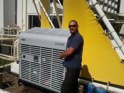 The BITZER ECOSTAR condensing unit at King Solomon Hotel in Eilat delivers reliable performance even in extreme climates.