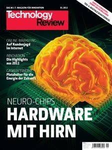 Titelbild der aktuellen Technology-Review-Ausgabe 1/2012