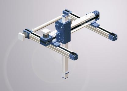 Die besonders geschützten Linearachsen der Produktfamilie Rollon Plus System bilden eine ideale Basis für Portalsysteme, kartesische Achsroboter oder die Linearbewegung von SCARA-Robotern
