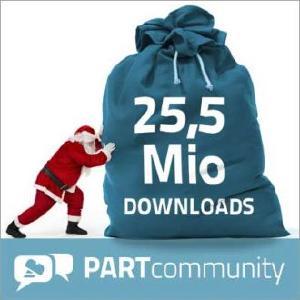 25,5 Mio Downloads bei PARTcommunity