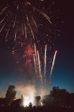 Den Abschluss der Feier bildete ein Feuerwerk