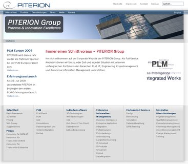 PITERION Group  - Relaunch der Corporate Website