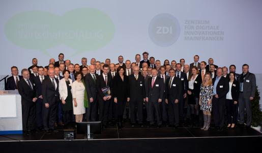 Die Netzwerkpartner des ZDI Mainfranken beim 2.Würzburger Wirtschaftsdialog am 21.03.2017 / Foto: Stadt Würzburg, Andreas Bestle